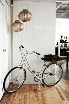 Awesome bike... and the lanterns.