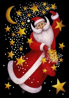 Santa & stars