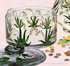 Cómo pintar objetos de vidrio  http://www.trucosymanualidades.com