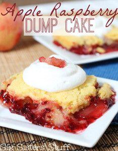 Apple Berry Dump Cake