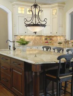 I love the lights in the far upper cabinets!