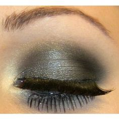 shadow idea, eyeshadow, eye shadow, black hair, makeup, idea board, beauti, silver jewelry, brown hair