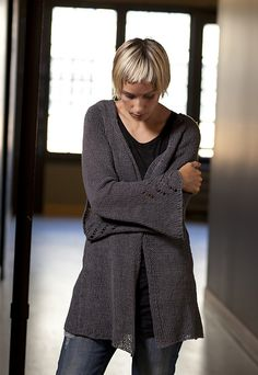 Ravelry: Hemp Cardigan pattern by Leigh Radford--Can't wait to knit this.