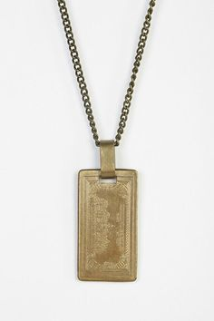 Urban Renewal Brass Bill Necklace #urbanoutfitters