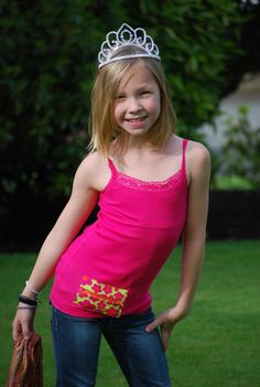 Insulin Pump Pocket Tank Top  Pink with Green & by RyleesPocket, $20.00