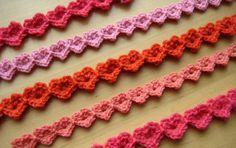 Heart Strings 2 row pattern pattern