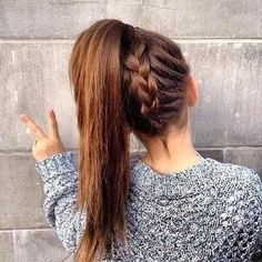 another way to put long hair up.
