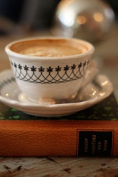 Coffee and a good book.