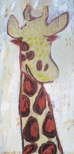 jennifer mercede, via Flickr-- From OPB lovely giraffe paintings
