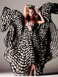 Flowing ethnic print dress...