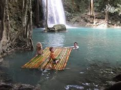 swimming and floating with the kids, Thailand