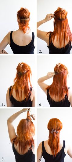 Steps on how to wear clip-in hair extensions. Visit http://www.truehairexpressions.com/ for a 100% virgin human hair extension.