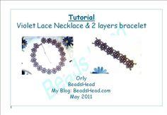 Violet lace necklace