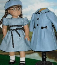 "Easter Coat  Dress for 18"" Dolls"