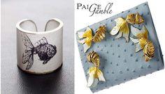 Goldfish cuff and Paige Gamble goldfish purse