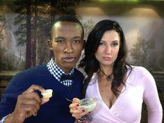 'Hot lips Hoolahan' with Katlego on Expresso Show for Eco Diva DIY natural lip balm recipe www.ecodiva.co.za