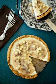 Cousin Johnnie's Caramel Apple Cheesecake #pauladeen