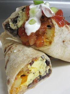 Make-ahead breakfast burritos for a crowd.