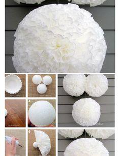 DIY Pom Pom Decorations   Baby Shower Decorations for Girls   Click for Tutorial