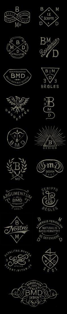BMD Design logos / Watercolor