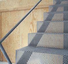 . steel stair, interior, italia, architectur, metals, metal stairs, perfor metal, desk materi, lotta agaton