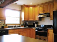 Split level house ideas by iorio1655 on pinterest split for Split level kitchen remodel before and after