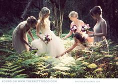 Bridesmaids - the photo looks like it comes from a fairy tale book