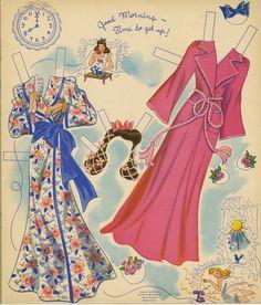 morning wear for vintage paper dolls