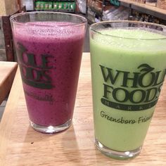 Breakfast Smoothies via Whole Foods chef in Greensboro
