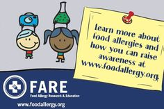 Food Allergy Awareness Week - Did you know that 1 in 13 kids has a food allergy?
