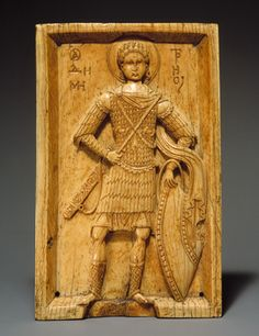 Icon with Saint Demetrios, ca. 950–1000  Byzantine  Inscribed in Greek: Saint Demetrios  Ivory