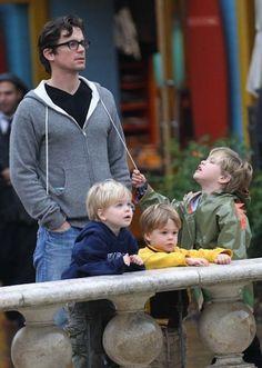 Matt Bomer and his sons