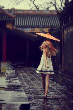 summer dresses, fashion, spring dresses, umbrella, white, the dress, people, rain, china