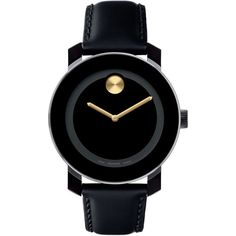 Movado 'Small Bold' Metallic Marker Watch ❤ liked on Polyvore