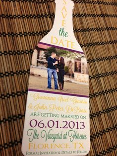 Photo Wine Bottle Save the Date