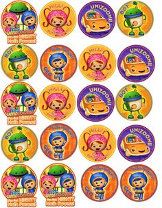 Team Umizoomi Birthday Party 2 inch Circle Printables with Milli Geo and Bot Characters. $2.00, via Etsy.