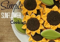 Sunflower Cookies {Sugarbelle}