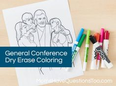 General Conference Dry Erase Coloring Pages - Moms Have Questions Too