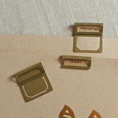 product, office supplies, paper, name cards, home office organization, brass index clip, dens, home offices, brass label