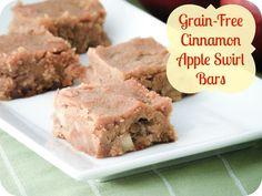 Grain-Free Cinnamon Apple Swirl Bars