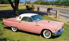 1957 Ford Thunderbird -- in pink!