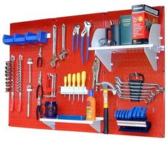 Wall Control 4 ft Metal Pegboard Standard Tool Storage Kit with Red Toolboard and White Accessories by Wall Control, http://www.amazon.com/dp/B00AN90OFE/ref=cm_sw_r_pi_dp_Wwufrb0VNS4KN