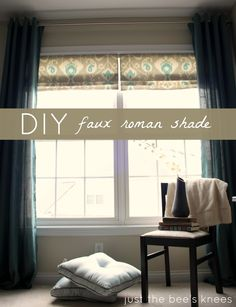 just the bee's knees: Faux Roman Shade Tutorial