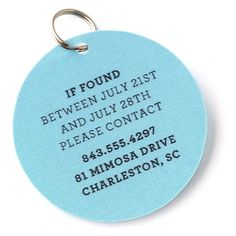 If you take your #pet on vacation this summer, add an easy #DIY tag like this one to his or her collar. That way, if your pet strays, people will be able to reach you. #MarthaStewartPets #pettips #petcare