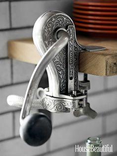 #Kitchen of the Month, February 2013. Design: Dan Doyle. Antique wine bottle opener.