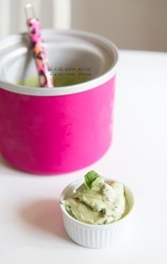 Paleo Autoimmune mint chip ice cream // AGirlWorthSaving.com