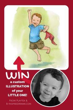 Win a Custom Illustration of Your Little One - #kids #sponsored #momtrusttipsus #kbn #giveaway