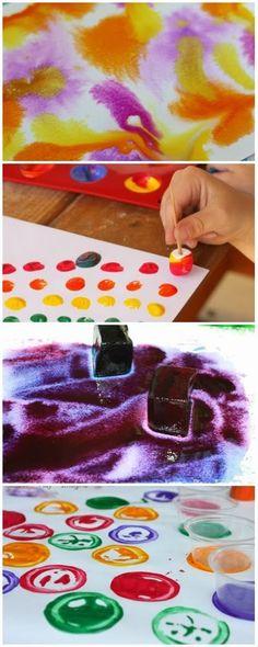 Ten unique ways to paint - art for kids