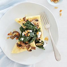 Goat Cheese Polenta with Sautéed Kale | CookingLight.com #myplate #veggies #dairy #grain