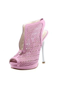 Pink Mesh Sling Back High Heel Pump *LOVE* #shoes #pumps #high #heels #pink #ladies #fashion